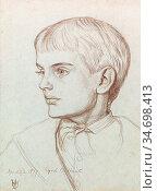Hunt William Holman - Portrait of Marion Edith Holman Hunt - British... Редакционное фото, фотограф Artepics / age Fotostock / Фотобанк Лори