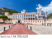 The Princes Palace of Monaco at sunny day (2018 год). Редакционное фото, фотограф EugeneSergeev / Фотобанк Лори