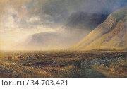 Hunt Alfred William - Rising Mist Loch Maree Highlands - British ... Редакционное фото, фотограф Artepics / age Fotostock / Фотобанк Лори