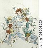 King Jessie Marion - Little Mother of the Angels - British School... Редакционное фото, фотограф Artepics / age Fotostock / Фотобанк Лори