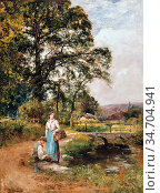King John Yeend - No Luck Today - British School - 19th Century. Редакционное фото, фотограф Artepics / age Fotostock / Фотобанк Лори
