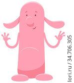 Cartoon Illustration of Cute Pink Fantasy Character. Стоковое фото, фотограф Zoonar.com/Igor Zakowski / easy Fotostock / Фотобанк Лори