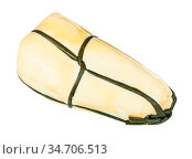 Local italian Provola Affumicata (smoked provola) cheese isolated... Стоковое фото, фотограф Zoonar.com/Valery Voennyy / easy Fotostock / Фотобанк Лори