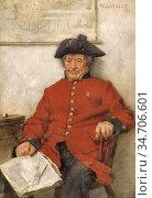Langley Walter - the Chelsea Pensioner - British School - 19th Century... Редакционное фото, фотограф Artepics / age Fotostock / Фотобанк Лори