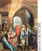 Lewis John Frederick - a Cairo Bazaar - the Della 'L' - British School... Редакционное фото, фотограф Artepics / age Fotostock / Фотобанк Лори
