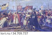 Ferdinand III, king of Castile captures Cordoba. Painted by Jose ... Стоковое фото, фотограф Juan García Aunión / age Fotostock / Фотобанк Лори