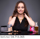 The young woman in beauty make-up concept. Стоковое фото, фотограф Elnur / Фотобанк Лори