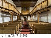Innenraum und Orgel der Stadtkirche St. Georg in Arneburg, Landkreis... Стоковое фото, фотограф Peter Schickert / age Fotostock / Фотобанк Лори