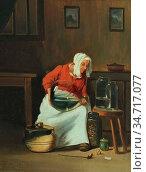 Gerard Theodore - Scène Domestique - Belgian School - 19th Century. (2020 год). Редакционное фото, фотограф Artepics / age Fotostock / Фотобанк Лори