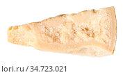 Top view of piece of local italian Parmigiano Reggiano (Parmesan)... Стоковое фото, фотограф Zoonar.com/Valery Voennyy / easy Fotostock / Фотобанк Лори