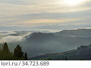 Tuscan landscape. Italy (2012 год). Стоковое фото, фотограф Знаменский Олег / Фотобанк Лори