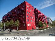 Luxoury apartments, Norra Djursgårdsstaden, Stockholm, Sweden. Стоковое фото, фотограф Nils-Johan Norenlind / age Fotostock / Фотобанк Лори