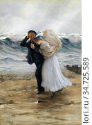 Morris Phillip Richard - the Sailor's Bride - British School - 19th... Редакционное фото, фотограф Artepics / age Fotostock / Фотобанк Лори
