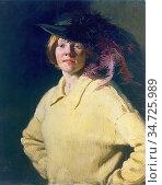 Nicholson Sir William - the Yellow Jersey - British School - 19th... Редакционное фото, фотограф Artepics / age Fotostock / Фотобанк Лори