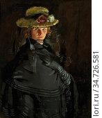 Orpen Sir William - Portrait of Grace Knewstub the Artist's 1st Wife... Редакционное фото, фотограф Artepics / age Fotostock / Фотобанк Лори