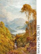 Palmer Harry Sutton - Ullswater 2 - British School - 19th Century. Редакционное фото, фотограф Artepics / age Fotostock / Фотобанк Лори