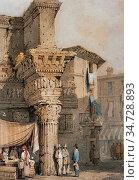 Prout Samuel - Rome the Forum of Nerva (Temple of Pallas) - British... Редакционное фото, фотограф Artepics / age Fotostock / Фотобанк Лори