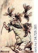 Rackham Arthur - Gulliver's Travels 2 - Gulliver's Combat with the... Редакционное фото, фотограф Artepics / age Fotostock / Фотобанк Лори