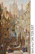 Rayner Louise - Edinburgh - British School - 19th Century. Редакционное фото, фотограф Artepics / age Fotostock / Фотобанк Лори