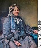 Richards Frank - Mrs Samuel Cotes - British School - 19th Century. Редакционное фото, фотограф Artepics / age Fotostock / Фотобанк Лори