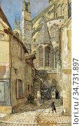Rooke Thomas Matthews - the Lady Chapel and Apse of Bourges Cathedral... Редакционное фото, фотограф Artepics / age Fotostock / Фотобанк Лори