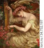Rossetti Dante Gabriel - a Sea Spell - British School - 19th Century. Редакционное фото, фотограф Artepics / age Fotostock / Фотобанк Лори