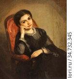Ricard Louis Gustave - La Vicomtesse De Calonne - French School - ... Стоковое фото, фотограф Artepics / age Fotostock / Фотобанк Лори