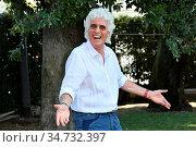 Ninetto Davoli during the photocall of tv show 'Ballando con le stelle... Редакционное фото, фотограф Maria Laura Antonelli / AGF/Maria Laura Antonelli / age Fotostock / Фотобанк Лори