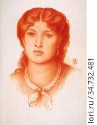 Rossetti Dante Gabriel - Fanny Cornforth 2 - British School - 19th... Редакционное фото, фотограф Artepics / age Fotostock / Фотобанк Лори
