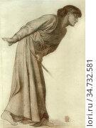 Rossetti, dante gabriel - Dante's Dream at the Time of the Death ... Редакционное фото, фотограф Artepics / age Fotostock / Фотобанк Лори