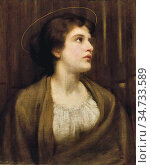 Salisbury Frank Owen - St Cecilia - British School - 19th Century. Редакционное фото, фотограф Artepics / age Fotostock / Фотобанк Лори