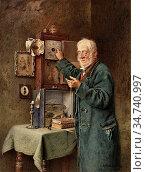 Spencelayh Charles - Greenwich Time - British School - 19th Century. Редакционное фото, фотограф Artepics / age Fotostock / Фотобанк Лори