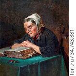 Webb Charles Meer - the Family Bible - British School - 19th Century. Редакционное фото, фотограф Artepics / age Fotostock / Фотобанк Лори