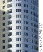 Жилой комплекс «Крылатские огни». Тридцатипятиэтажный одноподъездный монолитный жилой дом. Построен в 2007 году. Крылатские Холмы, 33, корпус 1. Район Крылатское. Город Москва (2010 год). Стоковое фото, фотограф lana1501 / Фотобанк Лори