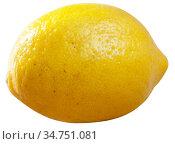 Whole lemon on white background. Стоковое фото, фотограф Яков Филимонов / Фотобанк Лори