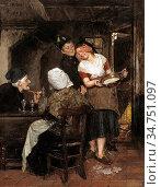 Madiol Adriaan Jan - Wie Is Het - Belgian School - 19th Century. Стоковое фото, фотограф Artepics / age Fotostock / Фотобанк Лори