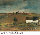 Khnopff Fernand - in Fosset - Regen - Belgian School - 19th Century. Стоковое фото, фотограф Artepics / age Fotostock / Фотобанк Лори