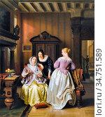 Loose Basile De - De Brief - Belgian School - 19th Century. Стоковое фото, фотограф Artepics / age Fotostock / Фотобанк Лори