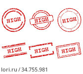 High Stempel - High stamps. Стоковое фото, фотограф Zoonar.com/Robert Biedermann / easy Fotostock / Фотобанк Лори