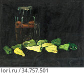 Pentelei-Molnar Janos - Grüne Paprika - Hungarian School - 19th Century... Стоковое фото, фотограф Artepics / age Fotostock / Фотобанк Лори
