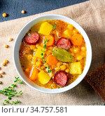 Hearty pea soup after grandmas rezept. Стоковое фото, фотограф Zoonar.com/Darius Dzinnik / easy Fotostock / Фотобанк Лори
