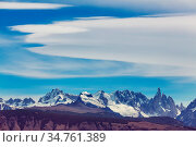Famous beautiful peak Cerro Torre in Patagonia mountains, Argentina... Стоковое фото, фотограф Zoonar.com/Galyna Andrushko / easy Fotostock / Фотобанк Лори