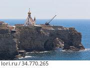 Мыс Большой Атлеш полуострова Тарханкут, Крым (2020 год). Стоковое фото, фотограф Николай Мухорин / Фотобанк Лори