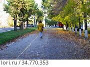 Улица Ленина в Ижевске осенью (2016 год). Редакционное фото, фотограф Альбина Ялунина / Фотобанк Лори