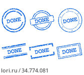 Done Stempel - Done stamps. Стоковое фото, фотограф Zoonar.com/Robert Biedermann / easy Fotostock / Фотобанк Лори