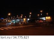 Большой Каменный мост. Берсеневская набережная. Район Хамовники. Город Москва (2009 год). Редакционное фото, фотограф lana1501 / Фотобанк Лори