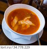 Oriental uzbek beef soup lagman. Стоковое фото, фотограф Яков Филимонов / Фотобанк Лори