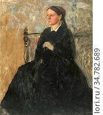 Degas Edgar - Julie Burtey C. 1867 - French School - 19th Century. Стоковое фото, фотограф Artepics / age Fotostock / Фотобанк Лори