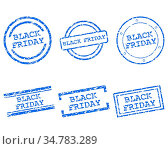 Black_friday Stempel - Black_friday stamps. Стоковое фото, фотограф Zoonar.com/Robert Biedermann / easy Fotostock / Фотобанк Лори
