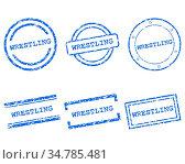 Wrestling Stempel - Wrestling stamps. Стоковое фото, фотограф Zoonar.com/Robert Biedermann / easy Fotostock / Фотобанк Лори